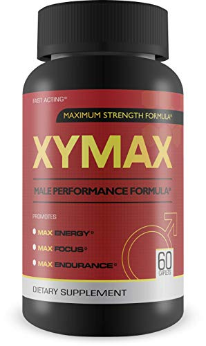 Xymax Male Performance Supplement- Maximum Strength Formula for Energy, Focus, Endurance 60 capsules