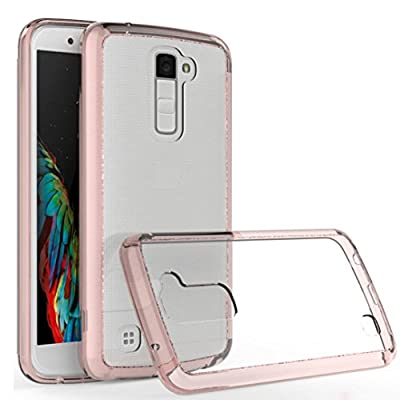 LG K10 Case,GBSELL TPU + Acrylic Crystal Clear Cover Protective Case For LG K10