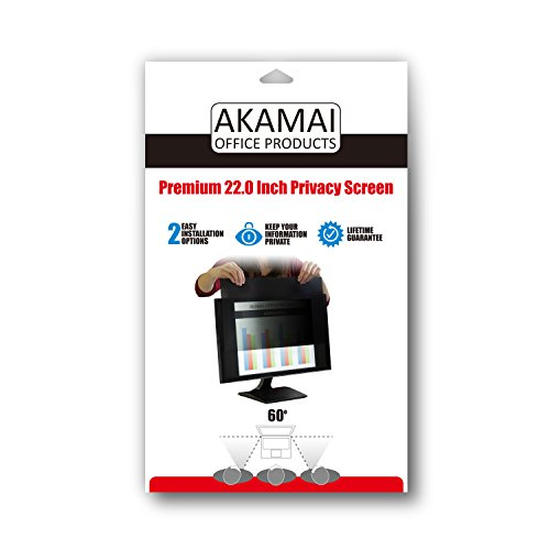 Akamai Office Products 22.0 Inch (Diagonally Measured) Privacy Screen Filter Widescreen Computer Monitors-Anti-Glare (AP22.0W) PLEASE MEASURE CAREFULLY by Akamai Office Products (Image #5)