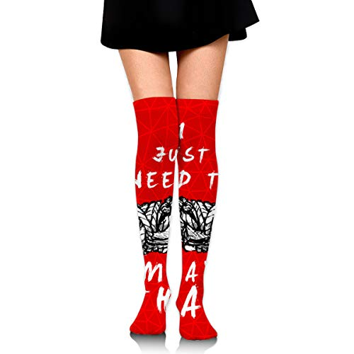 Knee High Socks I Just Need To Practice Muay Thai Women's Athletic Over Thigh Long Stockings