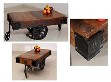 GELUSA Mesa para Salon Comedor Baja o Mueble Mesa de café Vintage ...