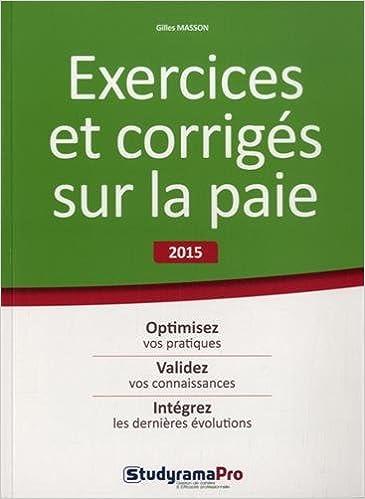 En ligne Exercices et corrigés sur la paie pdf