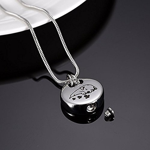 Pet Memorial Jewelry Cremation Urn Necklace -Sleeping Dog Keepsake Pendant Jewelry For Ashes by EternityMemory (Image #2)