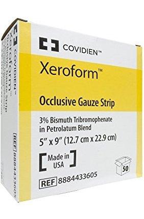 Sammons Preston XEROFORM Petrolatum Gauze Dressing Foil Pack Strip 5