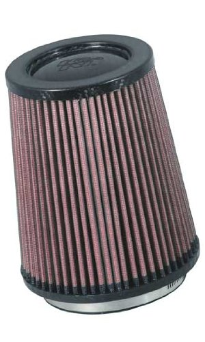 K&N RP-5167 Universal Clamp-On Air Filter: Round Tapered; 4.25 in (108 mm) Flange ID; 6.75 in (171 mm) Height; 5.875 in (149 mm) Base; 4.5 in (114 mm) Top