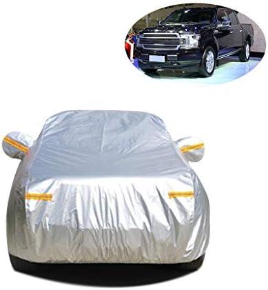 車のカバー 互換性のあるフォードF150防水フル・エクステリアカバーは暖かい防塵に対するスクラッチサンプロテクション屋外モバイルカーポートカーの保護カバーをキープ (Color : Silver Oxford)