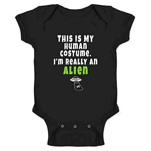 This is My Human Costume I'm Really an Alien Black 12M Infant Bodysuit