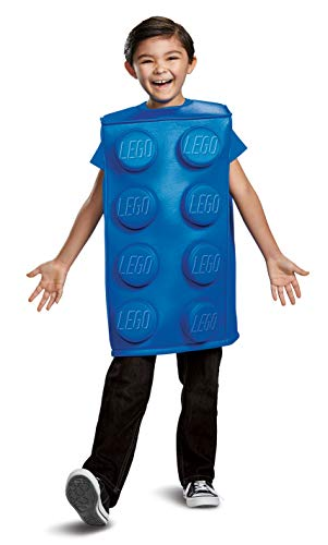 Lego Brick Halloween Costume (Disguise Blue Brick Child Costume, Blue,)