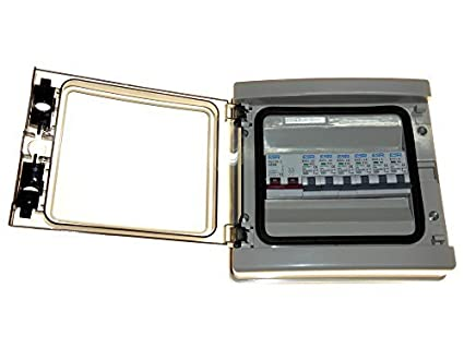 Cuadro eléctrico con interruptor principal 6 MCB - 100 amp aislante de desplazamiento y tecla de