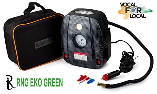 RNG EKO GREEN - Portable Tyre Inflator for Car and Bike 160 psi