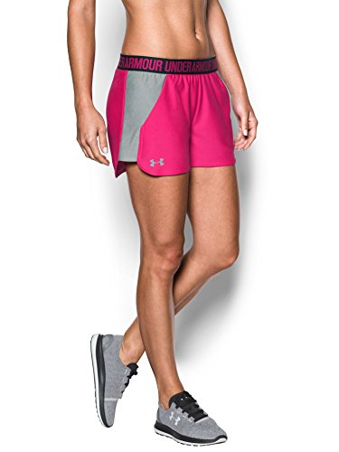 Under Armour Women's UA Play Up 2.0 Shorts, Tropic Pink/True Gray Heather, XXSmall by Under Armour (Image #1)