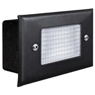 Dabmar Lighting LV-LED618-B 2.5W & 12V JC-LED Recessed Open Face Brick44; Step & Wall Light - Black Cover