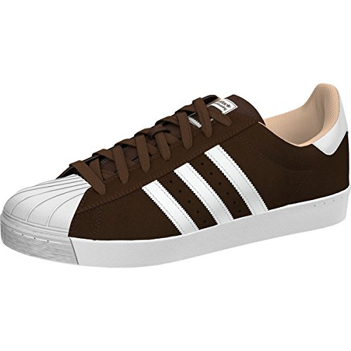810557182ba0 Galleon - Adidas Men s Superstar Vulc Adv Brown Ftwwht Goldmt Skate Shoe 7