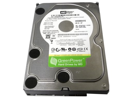 Western Digital (WD5000AVVS) 500GB 8MB Cache 5400RPM SATA II 3.0Gb/s 3.5″ Internal Hard Drive (CCTV DVR, PC, Mac) [Certified Refurbished]- w/ 1 Year Warranty