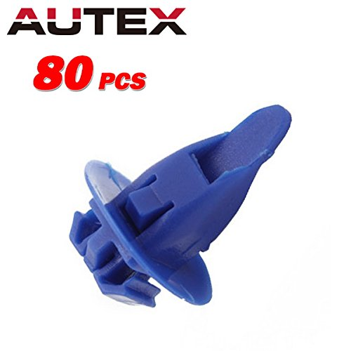 - AUTEX 80x Car Retainer Clips Nylon Fender Bumper Fastener Auto Body Push Type Retainer Replacement for Toyota Lexus Fender Wheel Flare Moulding Clips
