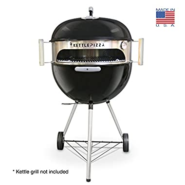 Made in USA KettlePizza Basic Pizza Oven Kit for 18.5 and 22.5 Inch Kettle Grills, KPB-22