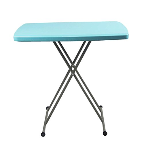 Metal Plastic Folding Table (Ankola Folding Tables, 30 by 20 Inches Height Adjustable High Density Polyethylene Folding Personal Tables Plastic and Steel)