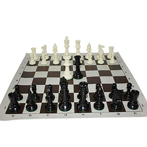 JSGJZY Game International Standard Chess Game Set Competition King 97mm(3.82inch) Large Plastic Chess Set Chessboard 4 Rear Game Yernea