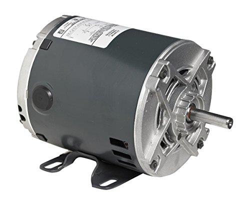 Marathon 9034 56 Frame Open Drip Proof 5KC49NN2044Y General Purpose Motor, 1-1/2 hp, 3600 rpm, 115/230 VAC, 1 Phase, 1 Speed, Ball Bearing, Rigid Base, Capacitor Start
