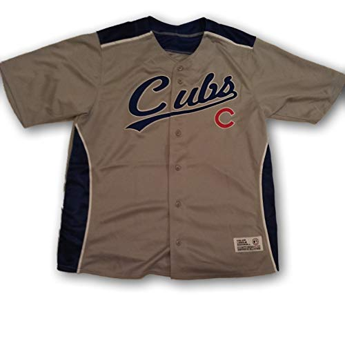 Genuine Merchandise Chicago Cubs Men's Jersey Gray Dri Fit Stitched XL (Merchandise Genuine Jersey)