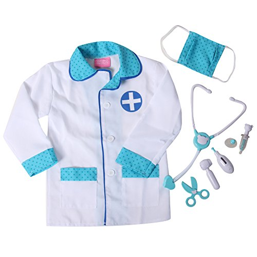 Lil' Doctor Medical Toy Play Set & Costume Dress Up (4/6, Blue) ()