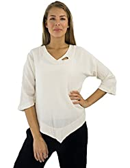 Cottonways Womens Cotton Gauze Jodie Keyhole Top