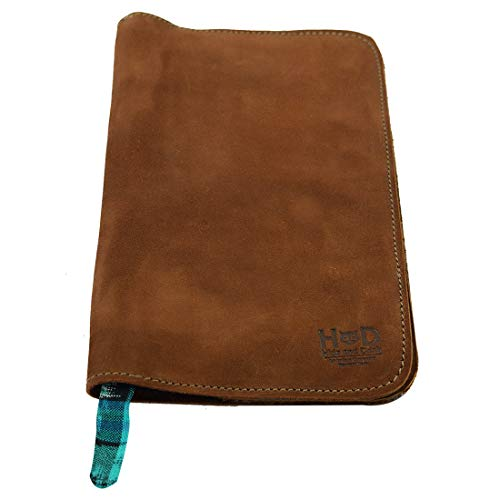 Hide & Drink, Rustic Leather Refillable Journal Cover for Moleskine Cahier Large (Size 5 x 8.25 in.) / Típico Strap Handmade :: Swayze Suede - Highland Suede Boot