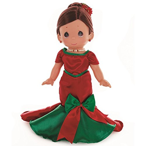 Precious Moments Dolls by The Doll Maker, Linda Rick, Dancing into The Christmas Spirit, Brunette, 12 inch Doll