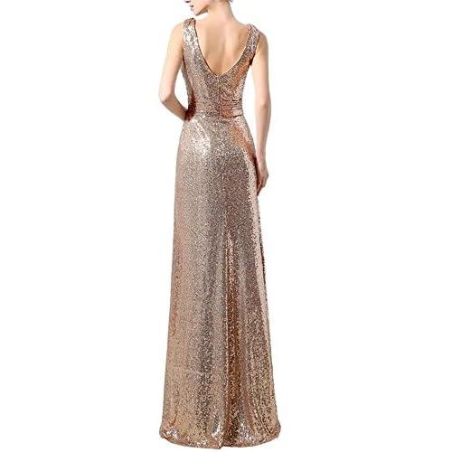 0675857c031 cheap LanierWedding Gold Sequins Bridesmaid Dresses Plus Size Prom Dresses