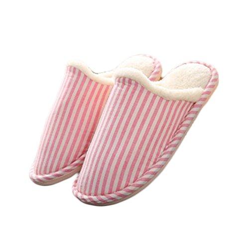 Unisex Comfortabele Toevallige Pantoffel Antislip Katoenen Linnenpantoffels Voor Mannen En Vrouwen Binnen Schoenen Roze M (us Size 7-8)