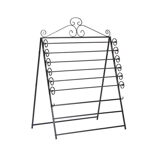 Easel Or Wall Mount Craft Storage Rack Black Wrapping Paper Roll by Comfort Bay