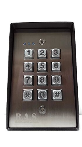 Exterior Digital Universal Gate Keypad Access Control Weather-Resistant Illuminated Stand-Alone ()