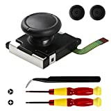 Veanic 3D Replacement Joystick Analog Thumb Stick for Nintendo Switch Joy-Con Controller - Include Tri-Wing & Cross Screwdriver Tool + 2 Thumbstick Caps