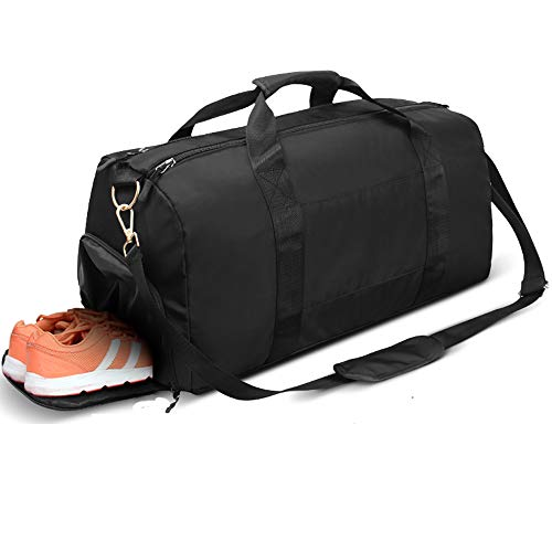 Sports Gym Bag, Travel Duffel Bag Tote Swim Bag with Wet Pocket and Shoes Compartment for for Women and Men ()