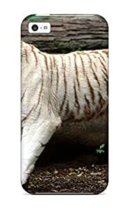 Shock-dirt Proof White Bengal Tiger Case Cover For Iphone 5c