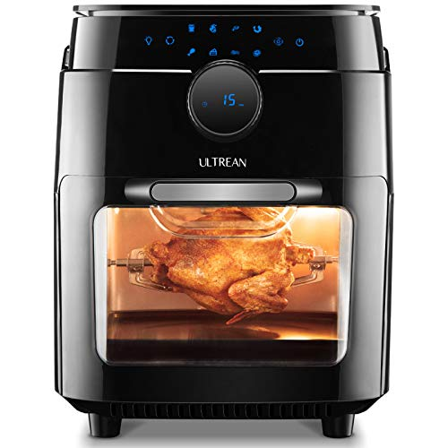Ultrean Air Fryer, 12.5 Quart Air Fryer Oven, Toaster Oven with Rotisserie,Bake,Dehydrator,Auto Shutoff and 8 Touch…