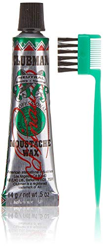 Clubman Moustache Wax Hang Pack - Neutral, 0.5 oz