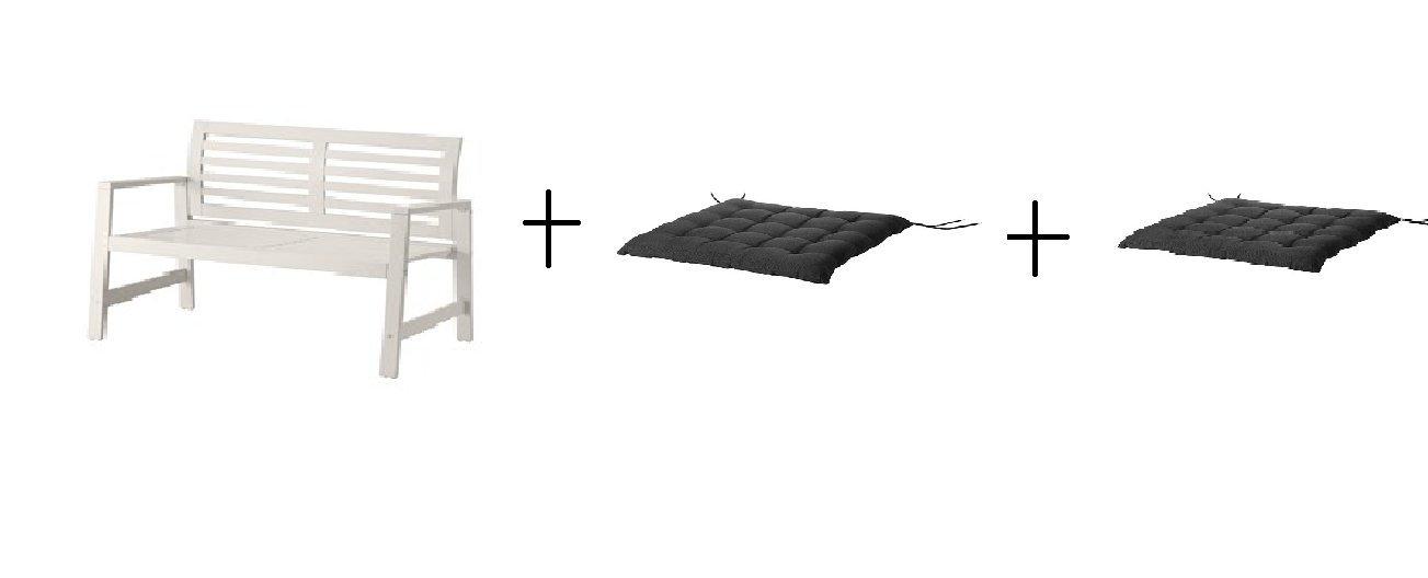 IKEA banco con respaldo, exterior, color blanco, silla Pad ...