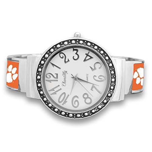 Tigers Team Watch - Clemson Tigers Cuff Watch with Silver Tone Accent