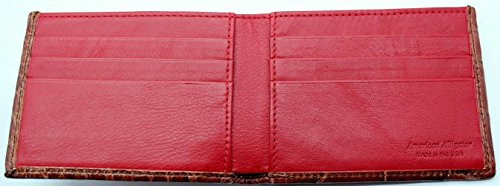 Genuine Alligator Slim Bi-fold Wallet – Factory Direct – Gift Box - Billfold Bifold Money Holder - Made in USA by Real Leather Creations DCRI1 by Real Leather Creations (Image #3)
