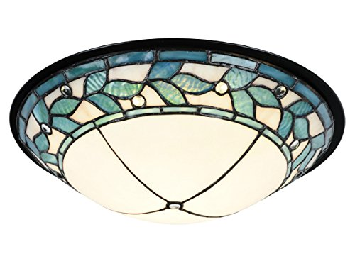 (Springdale TH15477LED Dome LED Tiffany Flush Mount, Tiffany)