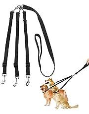 ASOCEA 3 in 1 Hondenriemen Multi Pet Leads 3 Manier Hond Lood Splitter Pet Triple Lead Coupler Verstelbare Afneembare Nylon Traction Touw voor Een/Twee/Drie Hond Katten Huisdier Wandelen