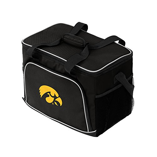 [NCAA Iowa Hawkeyes Iceberg Cooler, Black] (Iowa Hawkeyes Tailgate Cooler)