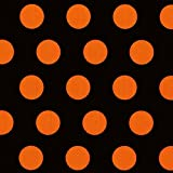 Ideal Home Range 20 Count Cocktail Paper Napkins, Big Dots Black Orange