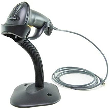 Zebra Formerly Motorola Symbol LS2208 Digital Handheld Barcode Scanner with Stand and USB Cable