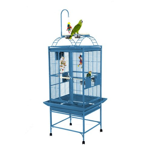 A&E Cage 8002422 White Play Top Bird Cage with 5/8'' Bar Spacing, 24'' x 22'' by A&E Cage