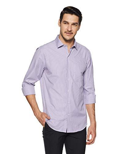 John Players Men #39;s Striped Slim Fit Formal Shirt