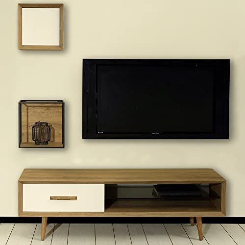 Adam and Illy ALTO TV Stand, Sherwood Oak Moonstone