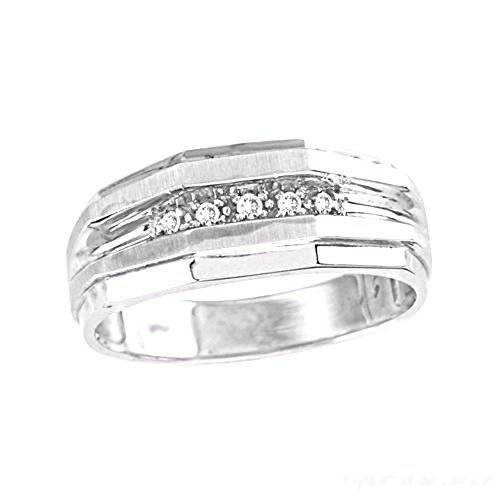 Religious Diamond Wedding Band - Rylos Diamond Wedding Band His/Hers Set in Sterling Silver .925