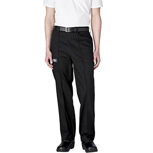 (Chefwear Tailored Cotton Chef Pants Medium Black )